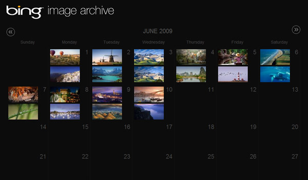 Bing Image Archive