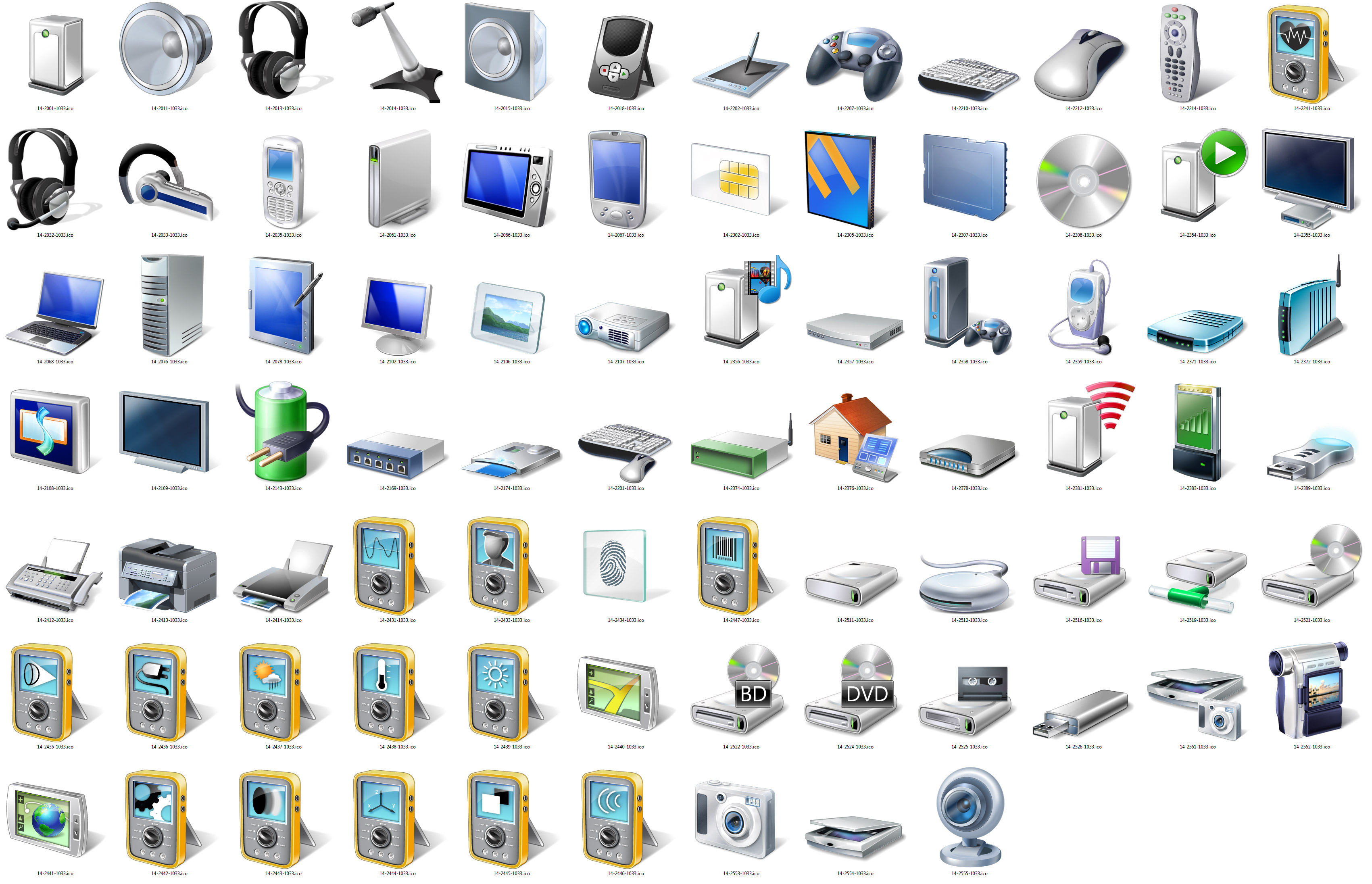 Admiring Windows 7's high-resolution device icons ...