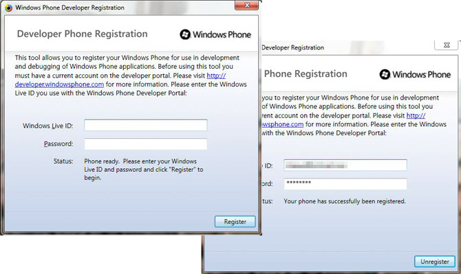Windows Phone 7 developer phone unlock