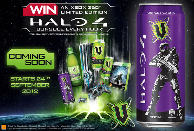 v energy drink to introduce new flavour for halo 4 purple plasma