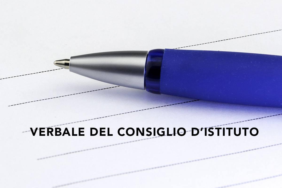 VERBALE DEL CONSIGLIO D'ISTITUTO