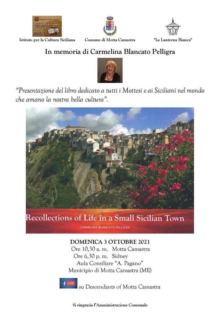 Domenica 3 ottobre a Motta Camastra il ricordo di Carmelina Blancato Pelligra