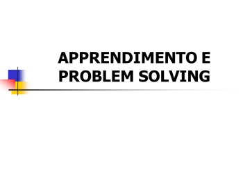 Apprendimento e Problem Solving
