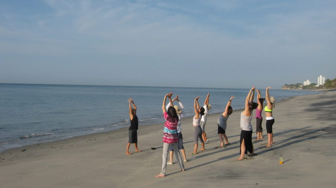 Beach Yoga in Panama Istmo