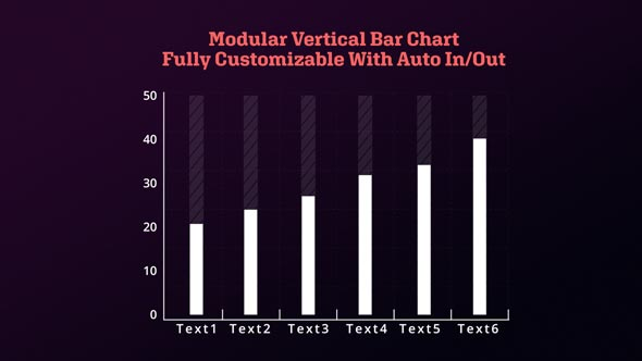Infographic Modular Vertical Bar Chart
