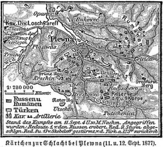 Imagini pentru Amplasarea trupelor la Plevna harta