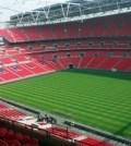 Stadionul Wembley - interior cu tribunele si suprafata de joc
