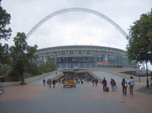 Stadionul Wembley - prim plan cu una dintre portile de acces