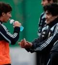 Maradona si Messi in cantionamentul echipei nationale a Argentinei