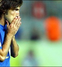 Andrea Pirlo in tricoul nationalei Italiei