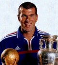 Zidane cu trofee