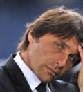 Juventus' coach Antonio Conte reacts aft