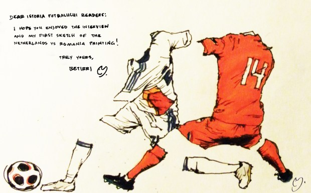 Netherlands vs Romania Sketch 02