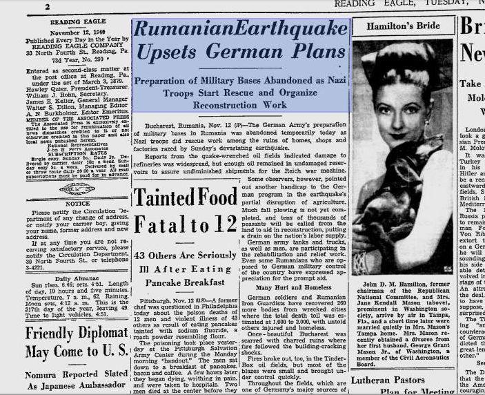 Presa americană despre cutremur