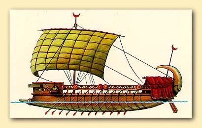 Ассиро-финикийский торговый корабль