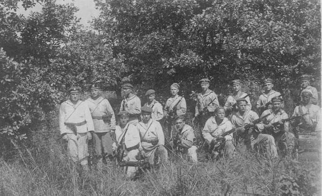 Десантний загін моряків Пінської флотилії. Ілюстративне зображення