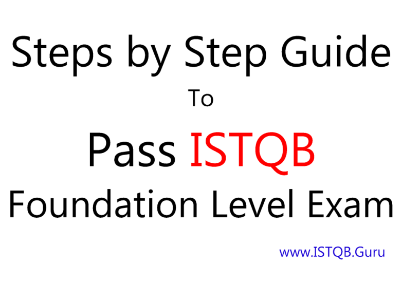 How to pass ISTQB certification exam