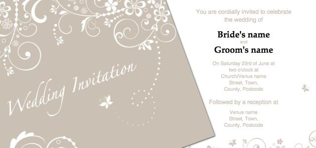 Print Home Invitation Templates