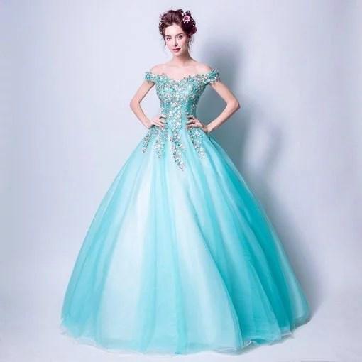 Aqua Blue Quinceanera Dresses Bridal Dress - Cheap Prom Dress ...