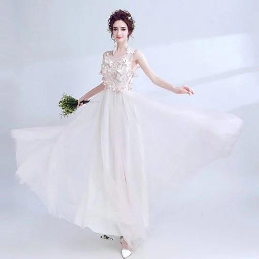 A Line Prom Dress Light Pink Evening Dress Cheap Prom Dress
