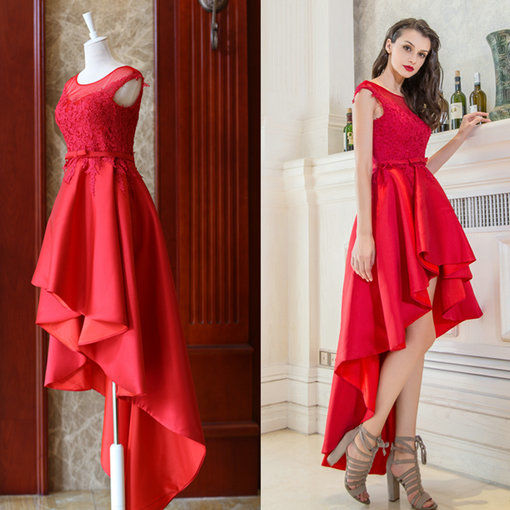 High Low Prom Dress Red Prom Cocktail Dress Under 100 Cheap Prom