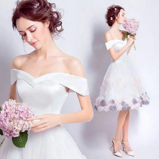Short white wedding dress cocktail dress cheap prom dressevening short white dress 147 03 junglespirit Gallery