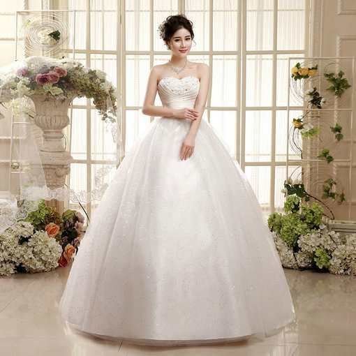Ball Gown Simple Wedding Dress For Sale - Cheap Prom Dress,Evening ...