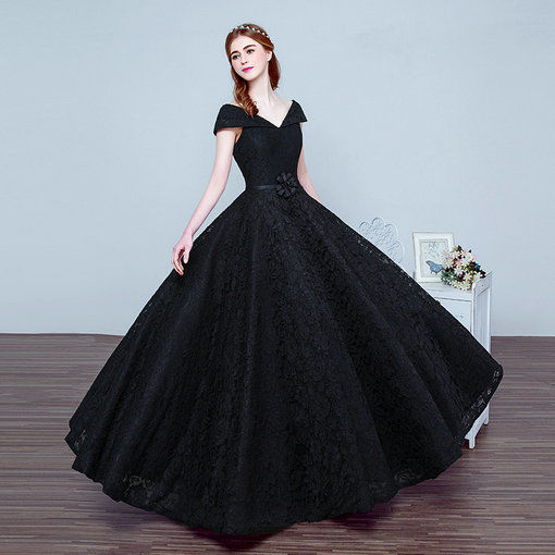 Black Ball Gown Evening Dress Long Prom Party Dress Online