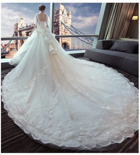 Affordable off the shoulder lace wedding dress floor length long wedding dress long train 391 06 junglespirit Image collections