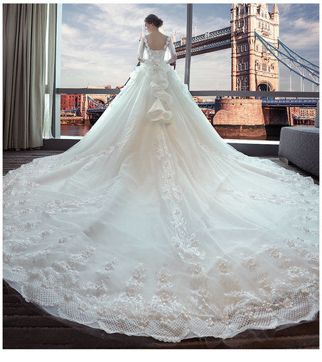 Wedding Dresses With Long Trains: Affordable Off The Shoulder Lace Wedding Dress Floor