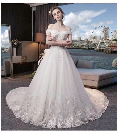Princess Wedding Dress 2017 For Sale Floor Length Long Train - Cheap ...