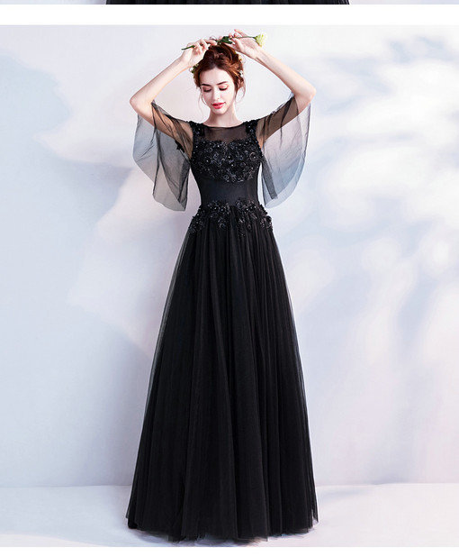 Off The Shoulder Black Prom Dress A Line Party Dress 2018