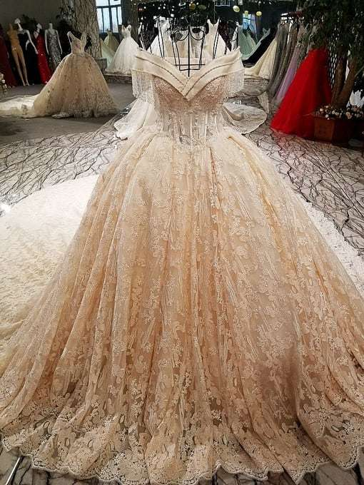 Affordable Haute Couture Wedding Dress Train For Sale