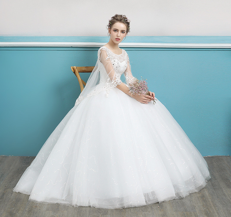 Wedding Dress With Cape Ball Gown Plus Size Wholesale