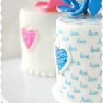 Red Velvet Love Note Mini Cakes & Heart Flowers