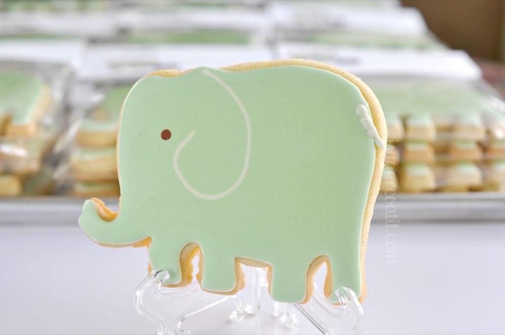 The Elephants In The Room Vanilla Rose Elephant Cookies I Sugar