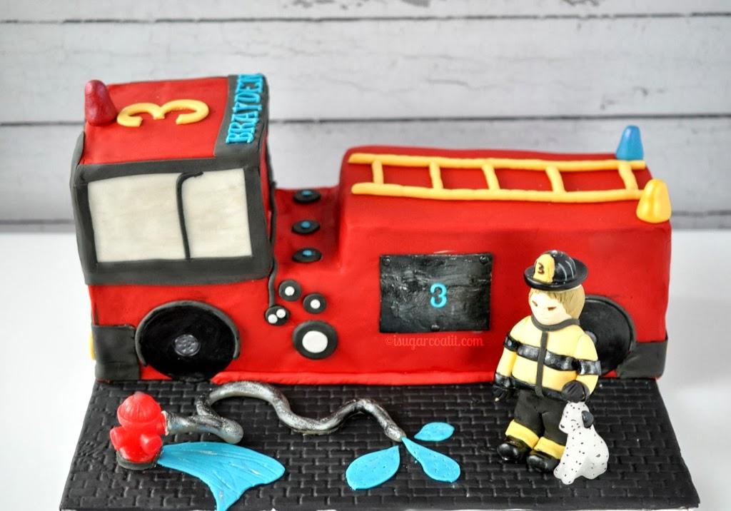 Fire Truck Birthday Cake I Sugar Coat It