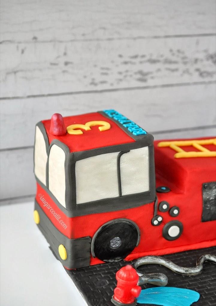 Surprising Fire Truck Birthday Cake I Sugar Coat It Birthday Cards Printable Benkemecafe Filternl