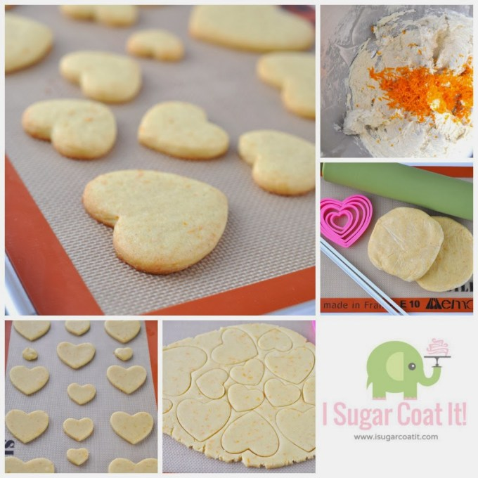 Stamped Orange Cardamom Cookie Postcards with Sugar Lace