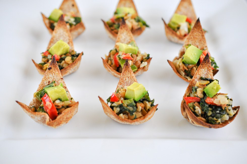 Kale and Lentil Salad Spoons-I Sugar Coat It!