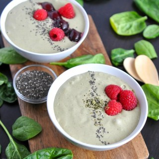 Coconut Cherry Kamut Smoothie Bowl