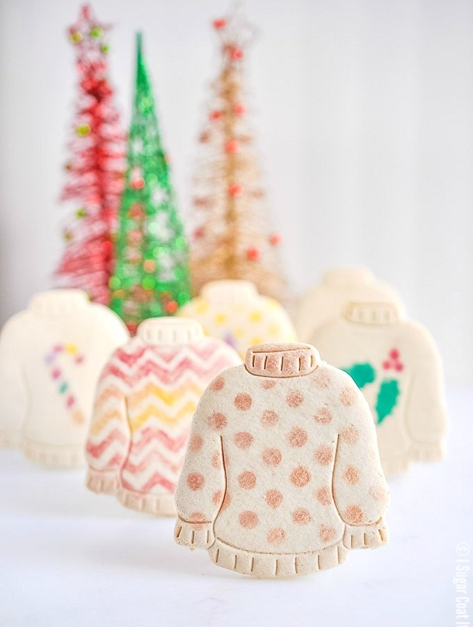 Ugly Sweater Vanilla Cookies