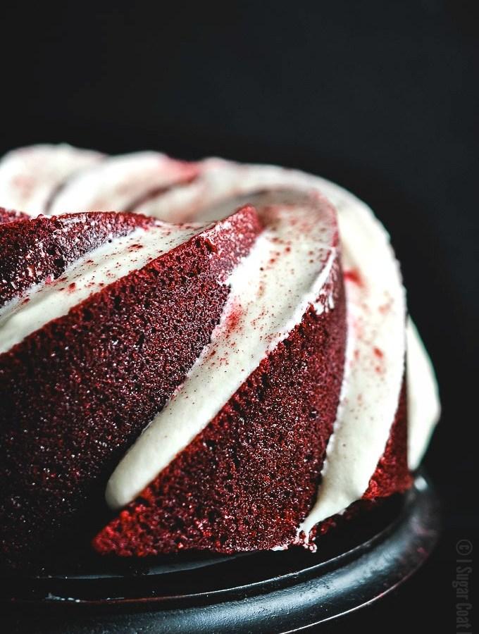Beets and Beer Red Velvet Bundt Cake