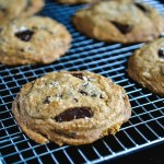 Browned Butter Mascarpone Chocolate Chunk Cookies flaunt perfectly crisp edges and a melt-in-your-mouth, chewy centre, stuffed with dark chocolate chunks.