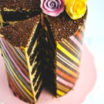Whipped Dulcey Ganache Chocolate Wrapped Cake is six layers of pure decadence.