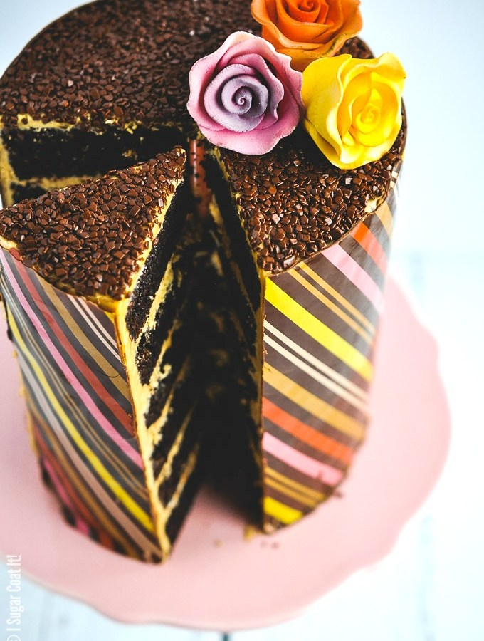 Whipped Dulcey Ganache Chocolate Wrapped Cake