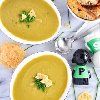 Roasted Leek Lentil Soup