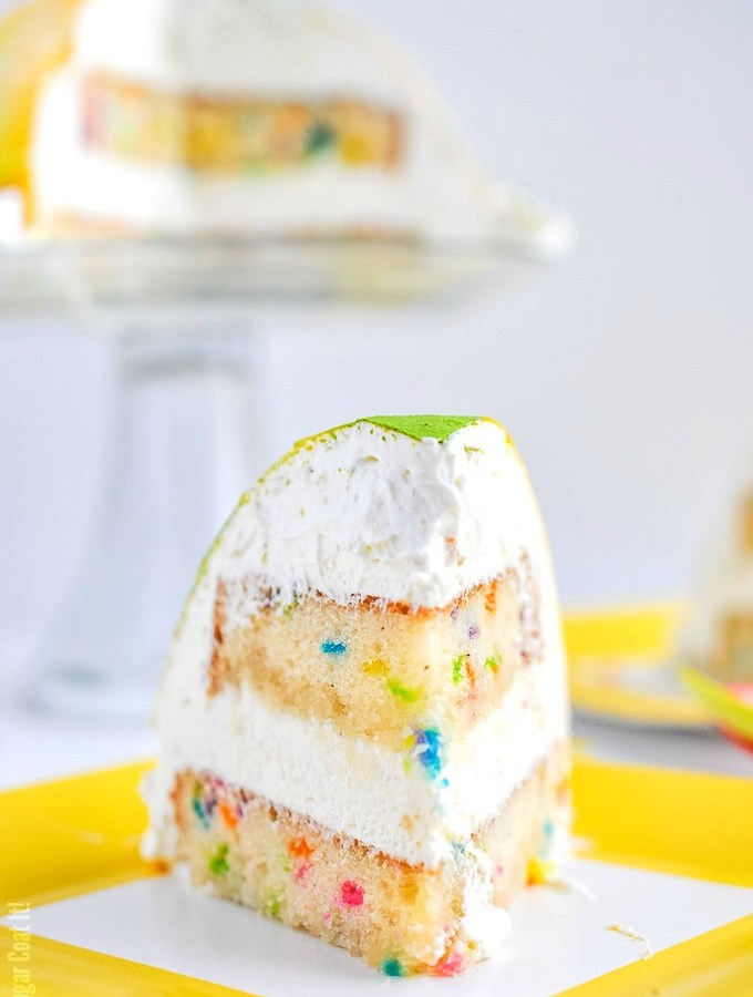 White Chocolate Coconut Mousse Funfetti Cake