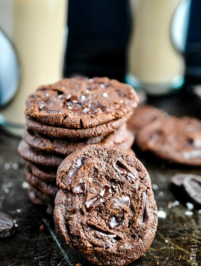 These Chocolate Chunk Shortbread Ice Cream Sandwiches are rich cocoa and dark chocolate chunk shortbread cookies stuffed with delectable homemade ice cream.