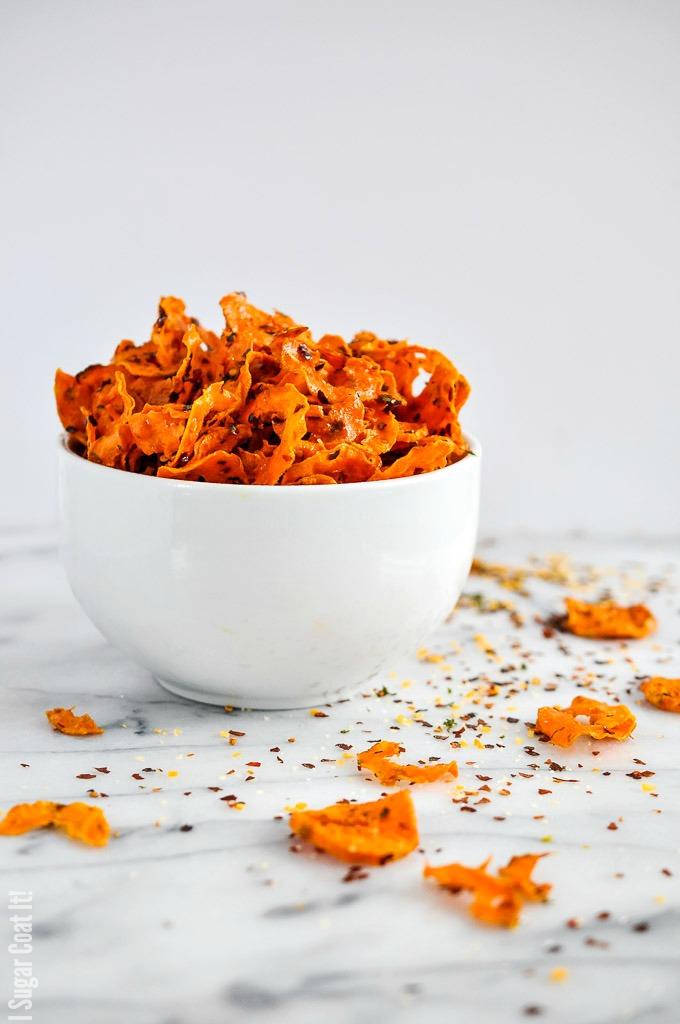 Sriracha Sweet Potato Chips